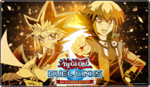 Promotional art celebrating the 1st anniversary of YuGiOh Duel Links!
