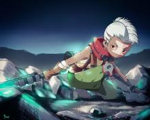 You can see here a unique interpretation of the champion, featuring him at a younger age