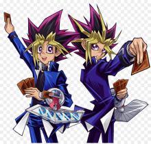 The character models of Yugi Muto and Yami Yugi!
