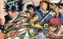 The whole team in samurai gear