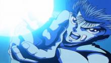 Yusuke firing off a powerful spirit gun