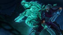 A green shadow splitting from Zed himself