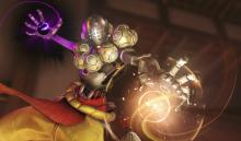 Zenyatta wielding his orbs of discord and harmony