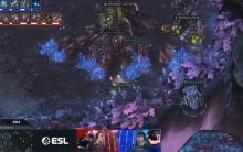Zest dancing around Serral's defenses.