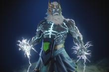 Zeus' godly arcana Tempest Helm of the Thundergod.