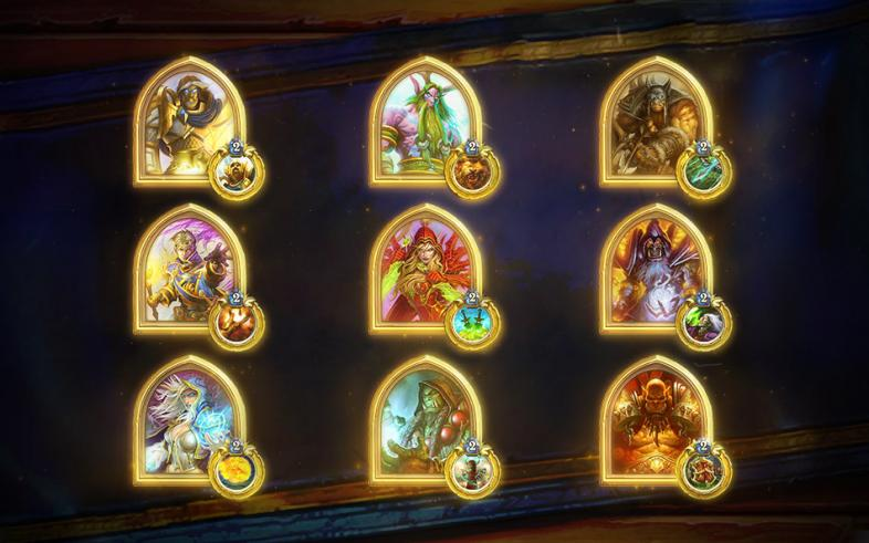 The Golden Classes for Hearthstone