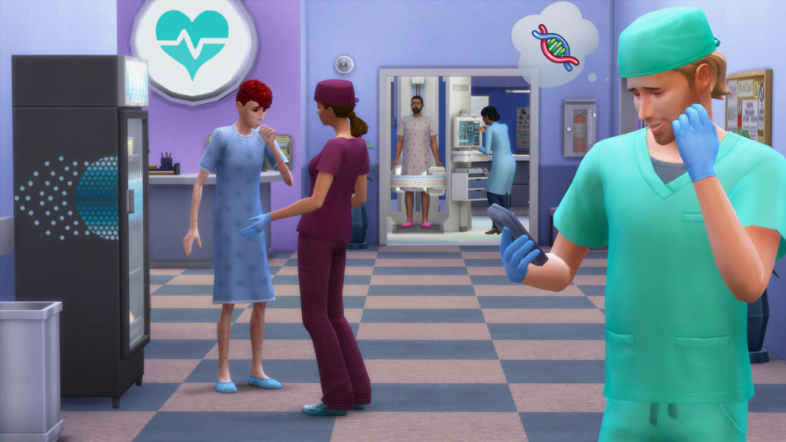 Sims 4: Get to Work - screen shot from Medical Career