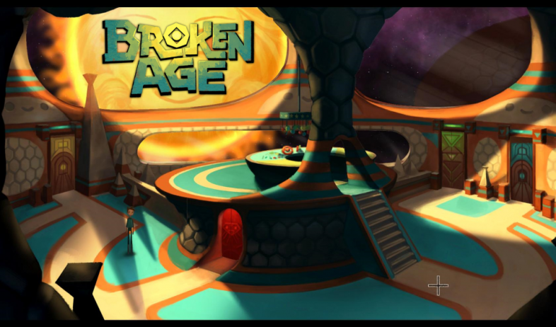 The Hub in Broken Age with a sweet logo.