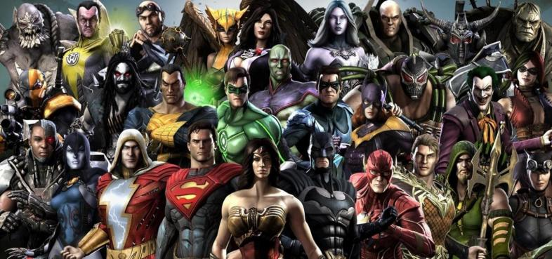 The character roster for 'Injustice: Gods Among Us'