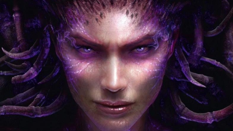 A face-shot of Sarah Kerrigan who is now the Queen of Blades.