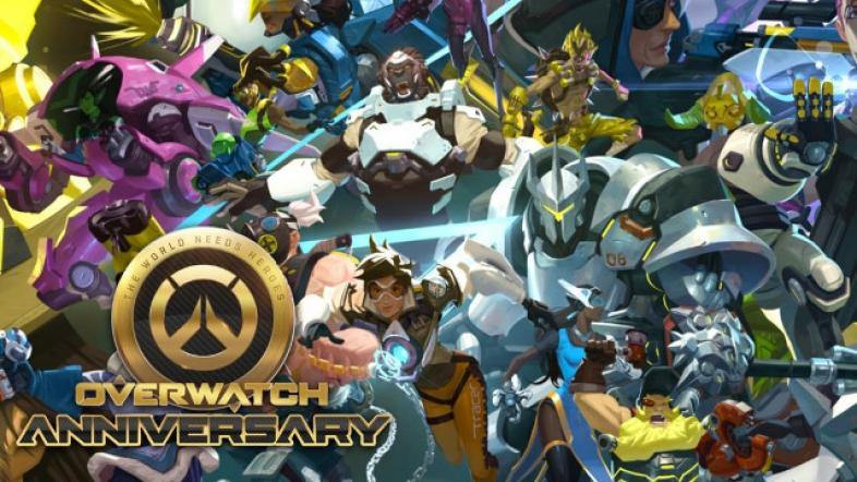 Overwatch, blizzard, anniversary, event, skins, characters