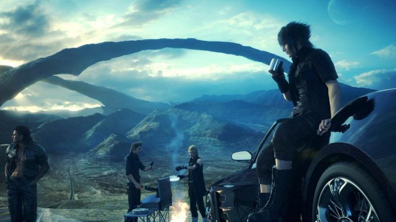 Final Fantasy 15 - Noctis and his friends set up camp