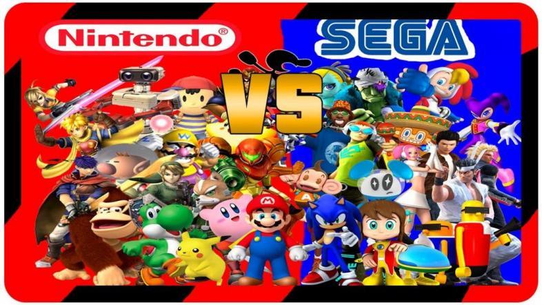 Nintendo, Sega, console, gaming, mario, sonic