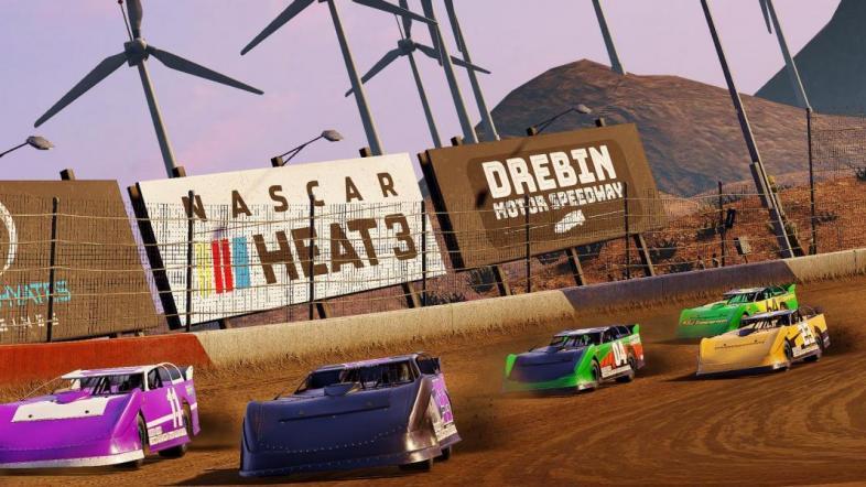 Drebin Speedway is one of the new Dirt tracks in NASCAR Heat 3