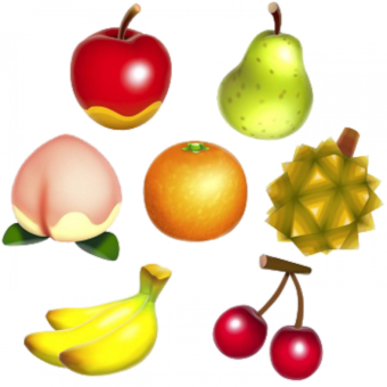 Animal Crossing New Horizons fruits