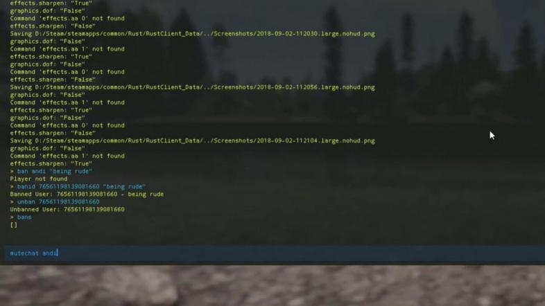 RUST Best Console Commands, If you hit F1 in Rust, you will be greeted with a screen like this.