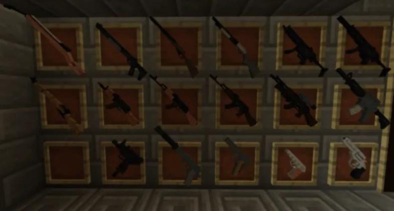 Minecraft, guns