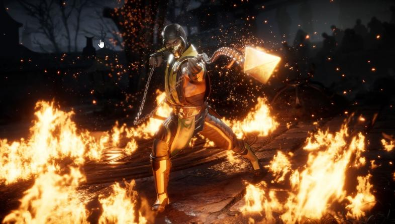 Scorpion stands in a ring of fire