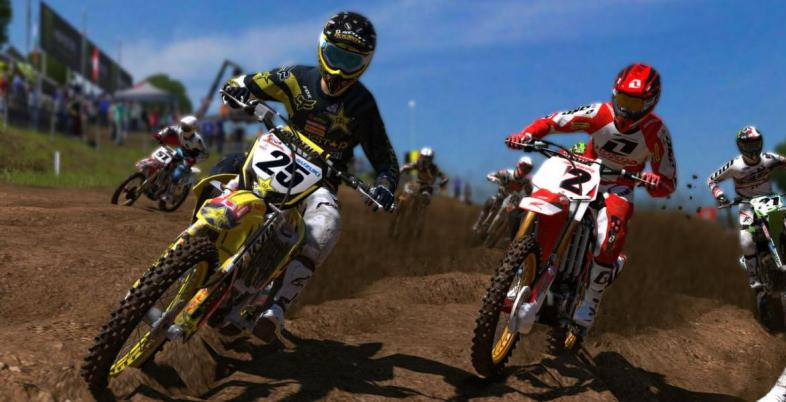 This is a close race in MXGP on a track that has seen better days.