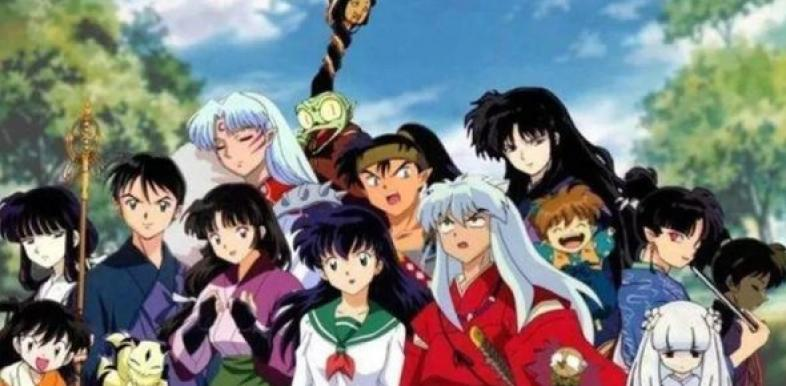 The character cast of Inuyasha!