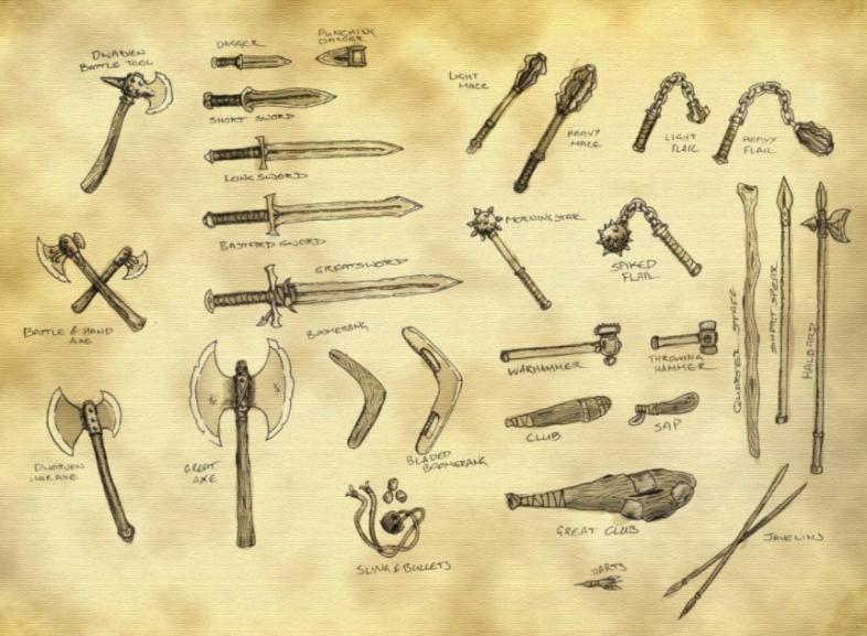 D&D Best Simple Weapons