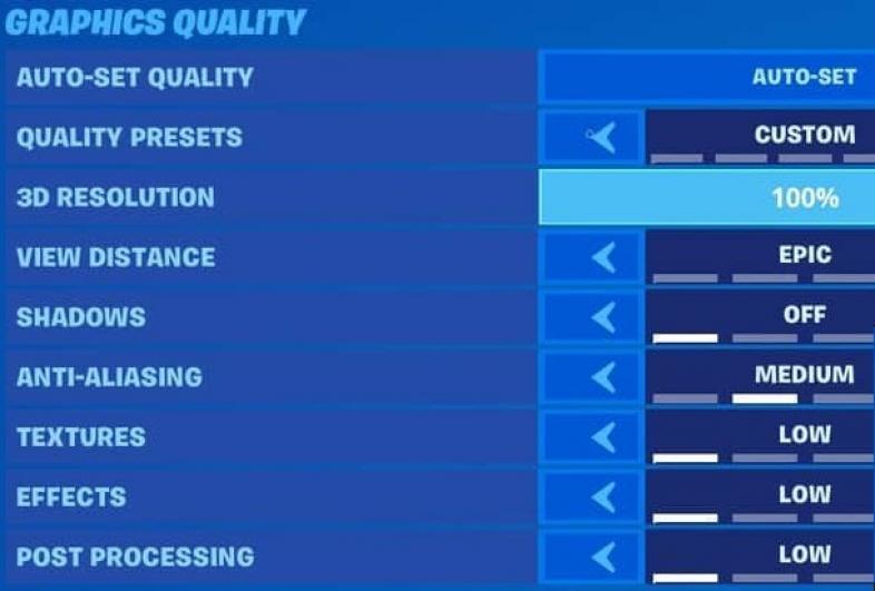 Best Fortnite Settings