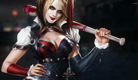 Harley Quinn as portrayed in the Arkham series.