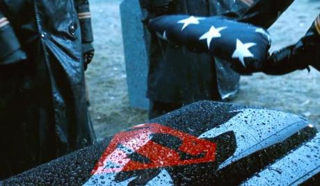 Superman's funeral in 'Batman vs. Superman: Dawn of Justice'.