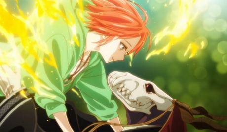 Chise and Elias embrace each other with passionate love.