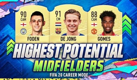 FIFA 20 best young midfielders.