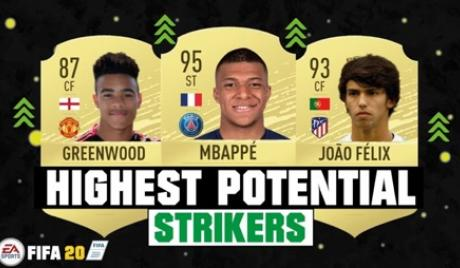 FIFA 20 best young strikers.