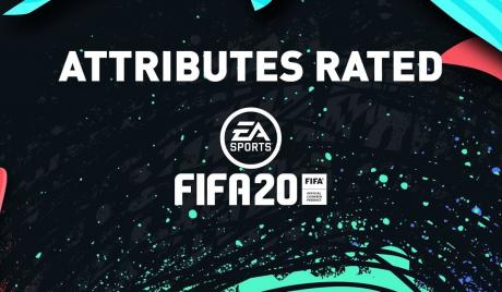 FIFA 20 attributes rated
