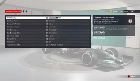 F1 2021, motorsports
