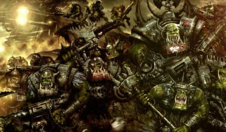 Ork warband firing on their enemy