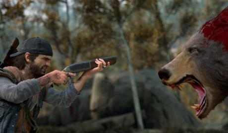 Days Gone attributes, Deacon st. john, days gone, Days Gone, best days gone attribute setting, open world zombie game ps4, days gone open world, deacon st. john, Deacon of days gone attribute, Days gone deacon aiming at bears