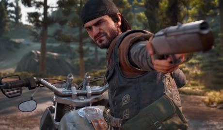 Days Gone guns, best days gone weapons, open world zombie game ps4, days gone open world, deacon st. john, Deacon of days gone aiming, Days gone deacon aiming at freaker, days gone top weapons, top 10 best weapons in days gone, how to get best weapons in days gone, arsenal on deacon, best side arms, sidearms of days gone, days gone sidearm, bike handle, open world sidearm gun, short guns, guns which can be used on bike, take out wolf with gun in days gone
