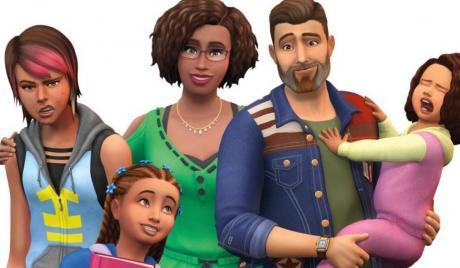 A happy, realistic sims family.