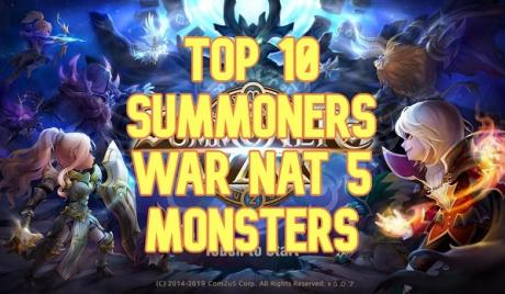 best nat 5s, summoners war, best nat 5 monsters, best monsters summoners war, best nat 5s summoners war