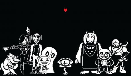 The cast of Undertale and the Red Soul