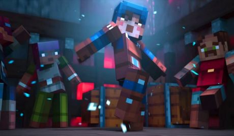 Minecraft Dungeons' players bust a move in their new digs
