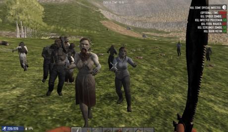 Zombie hoard headed for base
