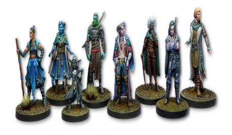 Painted minis from Critical Role's second campaign.