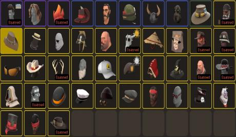 A collection of cosmetic items for Team Fortress 2