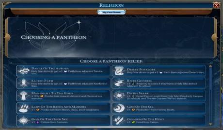Best Pantheons Civ 6