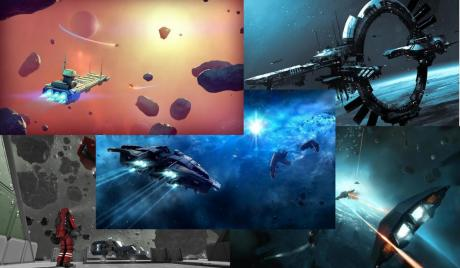 A little collage of some of the many space games that have been cropping up.