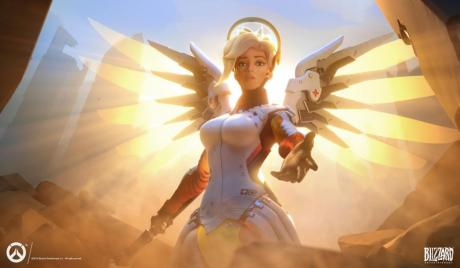 Mercy, Overwatch, Blizzard, Healing