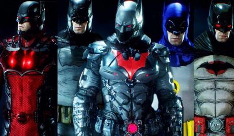Batman suits in Arkham Knight