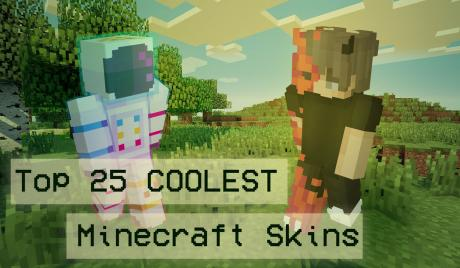 Thumbnail of an astronaut Minecraft Skin and a demon Minecraft skin