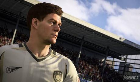 steven gerrard on EA's FIFA 19 icons kit